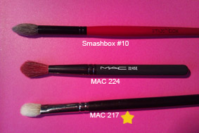 My three favourite blending brushes