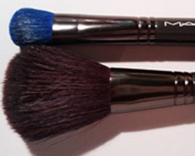 MACs wonderful fluff and powder brushes.